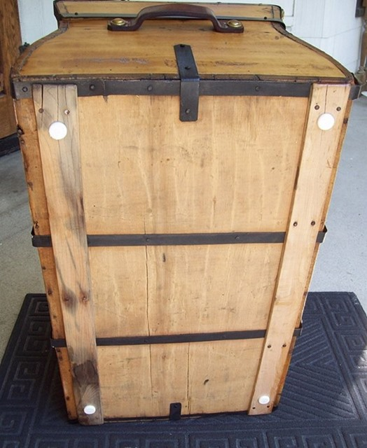 T100 - Rare Gold Rush Stagecoach Trunk, Ca. 1840's - SOLD - Click Image to Close